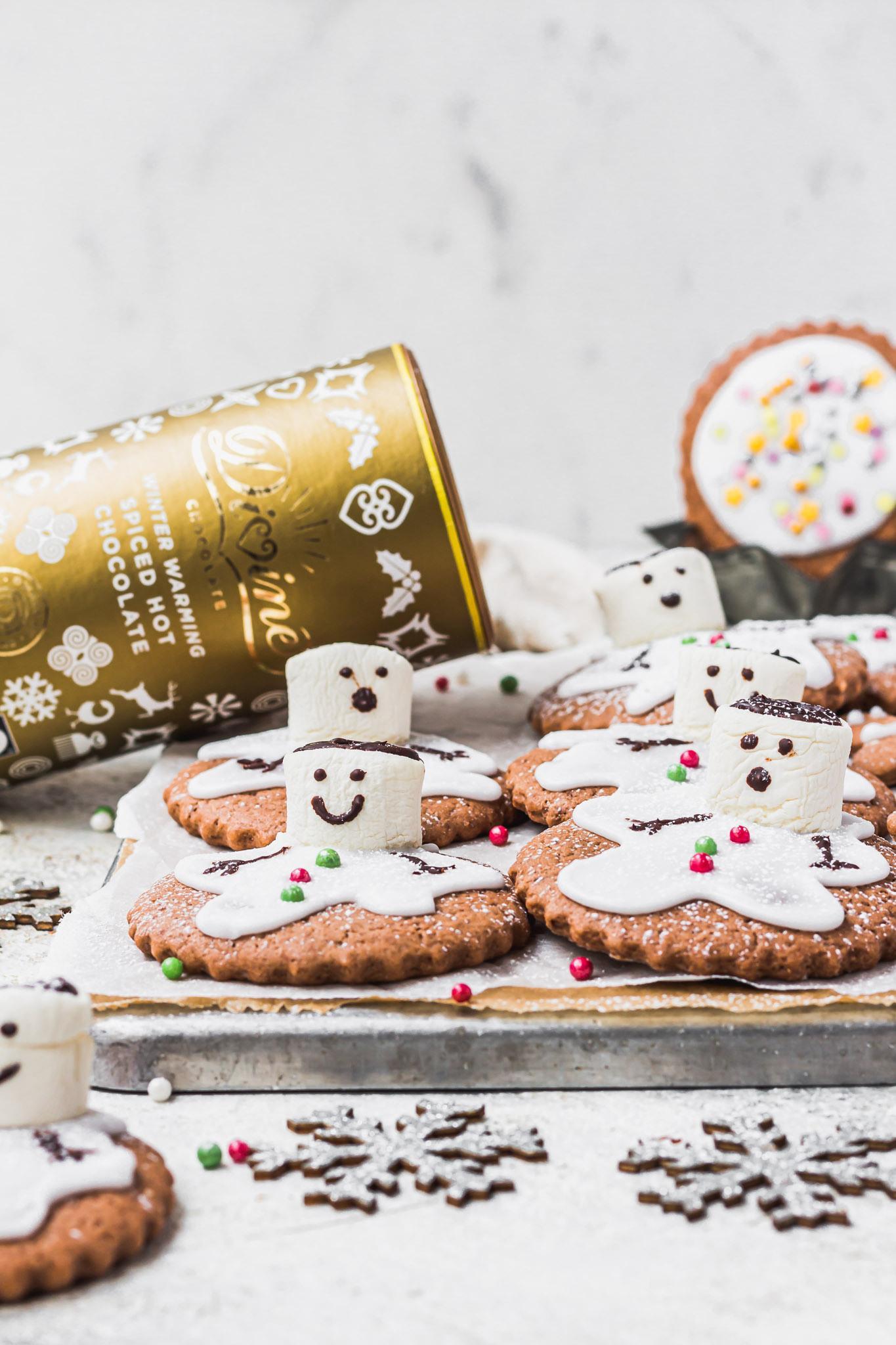 Melting Snowmen Chocolate Sugar Cookies
