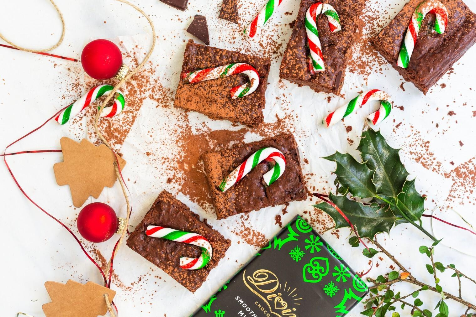 Mint Chocolate Candy Cane Brownies