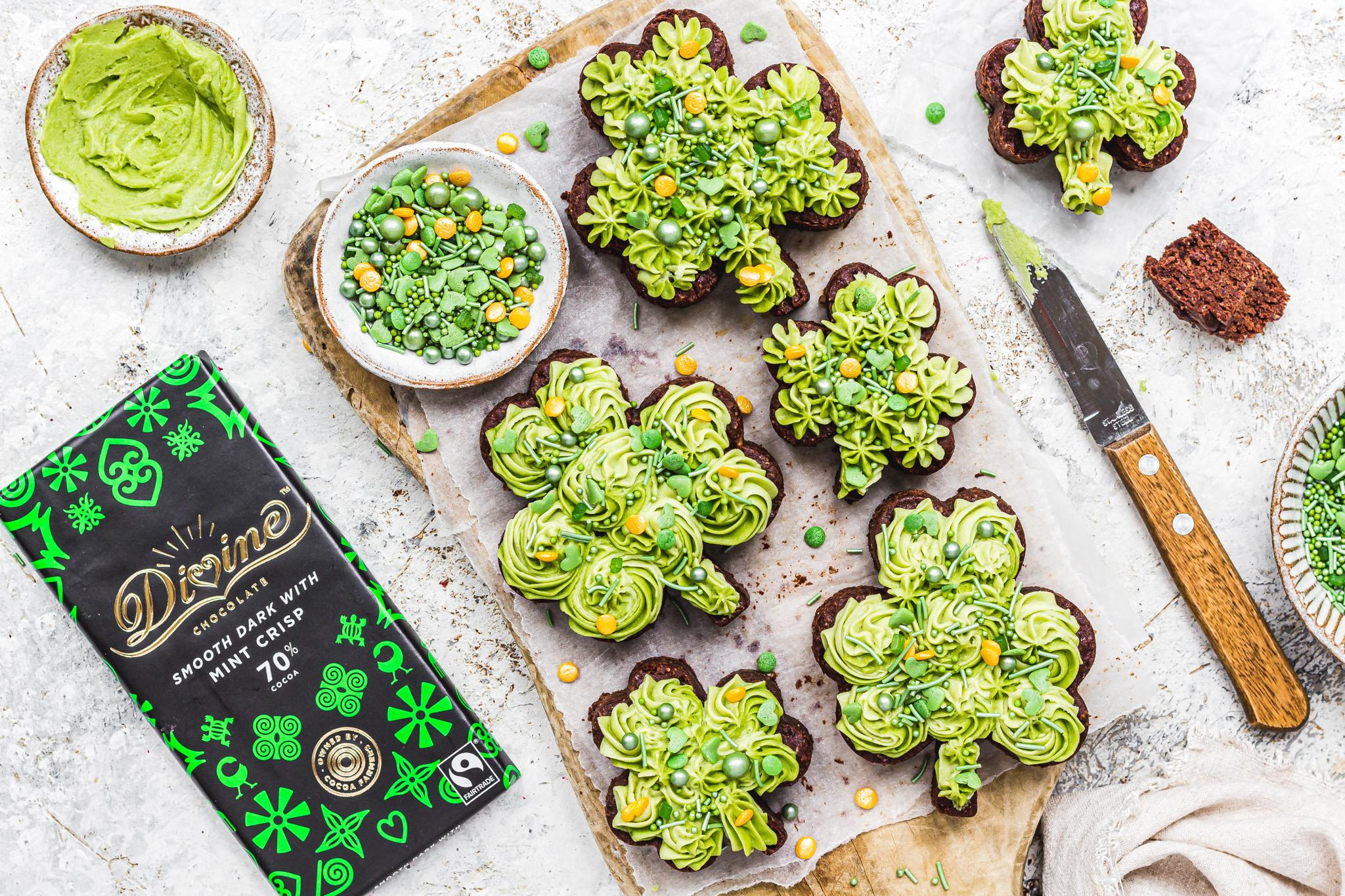 St Patrick's Day Brownies