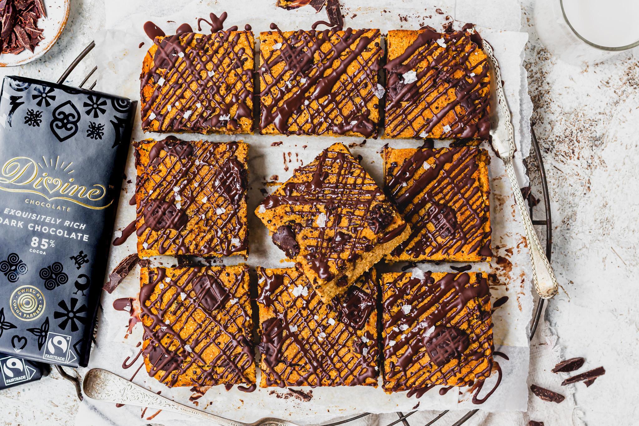 Sweet Potato Chocolate Chunk Blondies