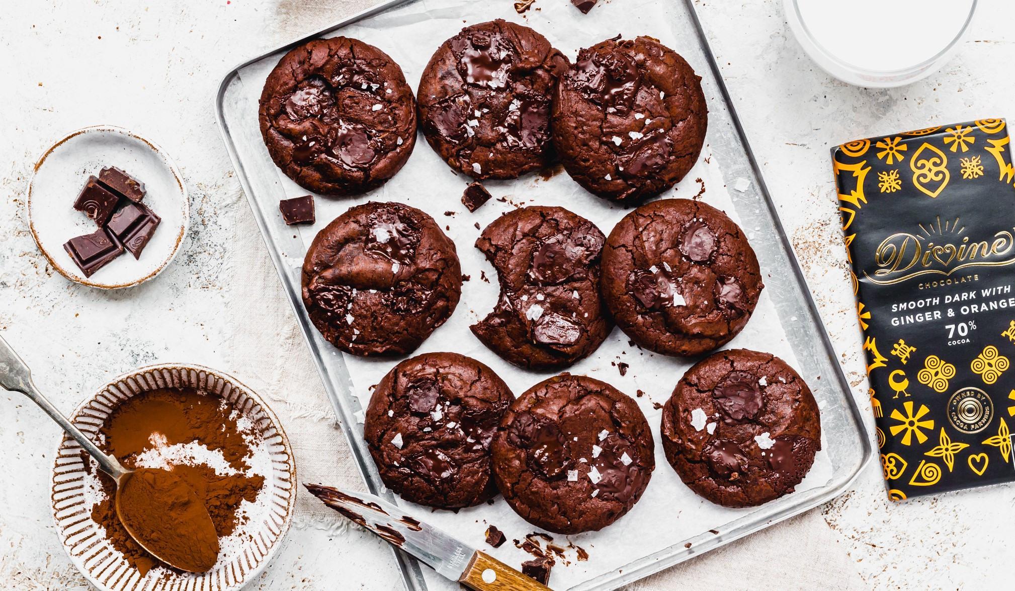 Dark Chocolate Orange Brownie Cookies
