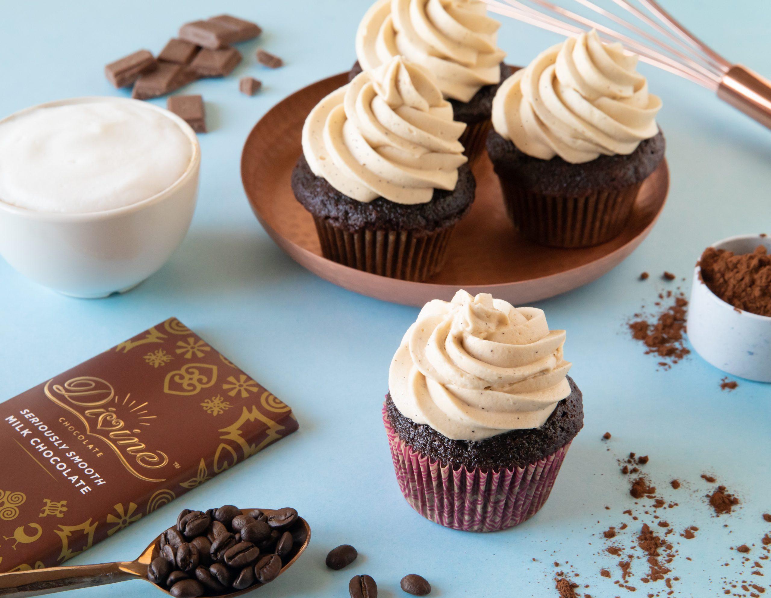 Divine Dark & Tawny Cupcakes