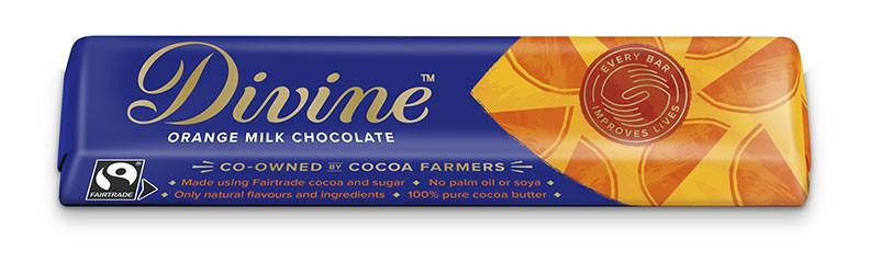 Divine Orange Milk Chocolate 35g