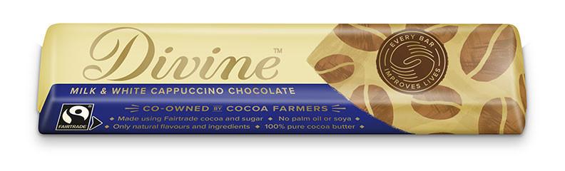 Divine Milk & White Chocolate Cappuccino Bar 35g